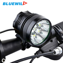 New Bicycle Front Lights 9x CREE XM-L T6 LED Headlights Bike Lamp 10800 Lumens Headlamp + 6x 1200mAh 18650 Battery Pack