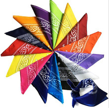 1 pc brand New 100% Cotton Blend Hip-hop Bandanas 55*55cm Male Female Head Scarf  Big Handkerchief  Wristband hot selling