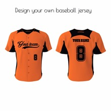 subimation printing 100%polyester quality custom baseball jersey with your logo, name, number