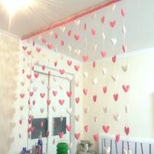 2m Heart Decorative Curtain Curtain Line Of New Homes Home Improvement Store Cupboard Curtain Soft Partition