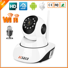 BESDER Wired Wifi IP Camera 720P Pan Tilt Wireless Baby Monitor Camera Motion Detection Two Way Audio SD Card Slot IR CCTV IP
