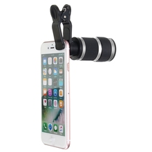 Buy 8x Optical Zoom Lens Clip-on Telescope HD Phone Camera Telescope Lens Clip Universal iPhone Android Mobile Phones Lens for $8.53 in AliExpress store