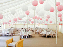 24pcs/lot Mixed White Pink Paper Lanterns for Wedding Engagement Baby Shower Birthday Party Nursery Decoration(China)