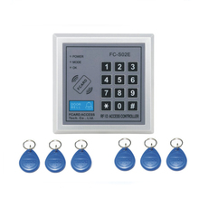 Free shipping integrated circuit FC-S02E password+ 125KHZ RFID EM Access control system /access control machine +5 keyfob()