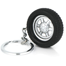 Spinning Wheel Rim Keychain Creative Automotive Accessories Auto Part Model Tyre Tire Key Chain Ring Keyring Keyfob Keyfob(China)