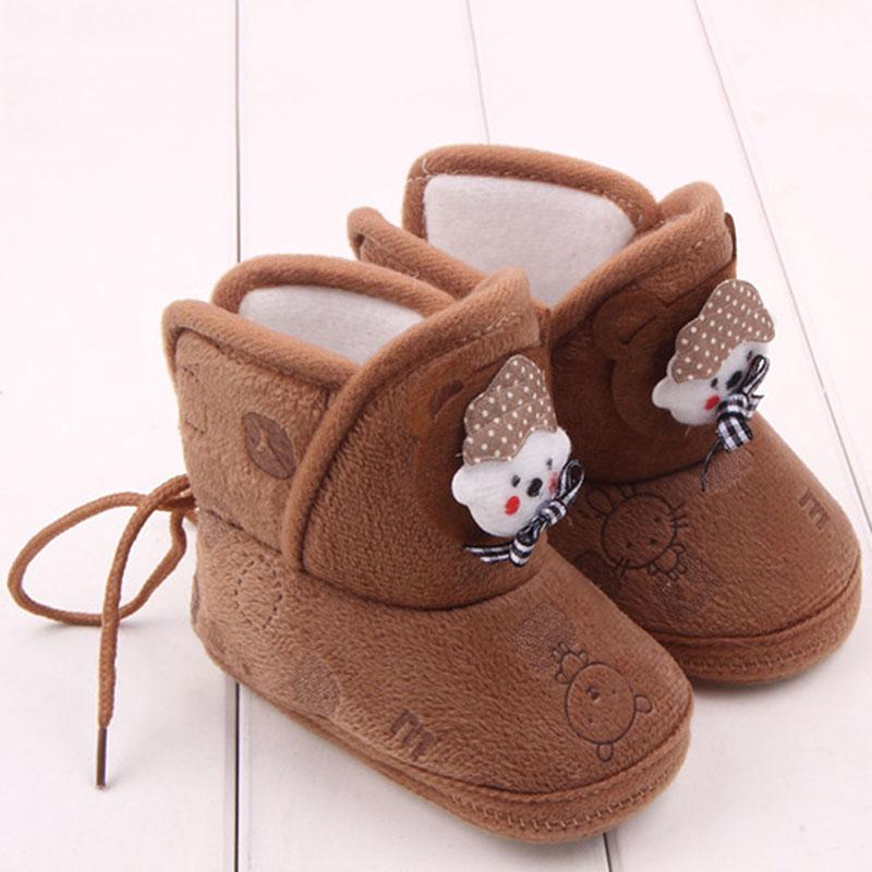 Newborn Boys Girls Cartoon Prewalker Fleece Boots Baby Toddler Indoor Crib Shoes<br><br>Aliexpress