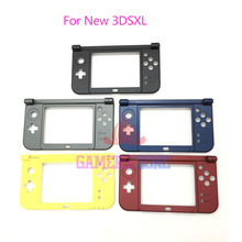 5PCS 2015 New Version For Nintendo New 3DS XL Replacement Hinge Bottom-Middle Shell LCD Part  Black