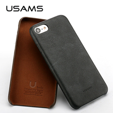 For Coque iphone 7  4.7 inch USAMS Bob Series PU Leather Case Reinforced Dirt/Shock Proof Phone Bag for Apple iphone7 Plus Cases