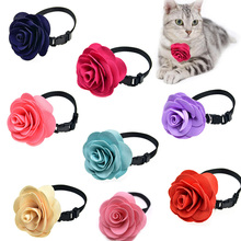 10pcs Rose Flower Design Pet Cat Collar Puppy Middle Dog Nylon Collar Necklace Pet Holiday Grooming Accessories S M(China)