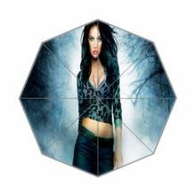 Fashion Design Umbrella Custom  Megan Denise Fox  Folding  Umbrella For Man And Women
