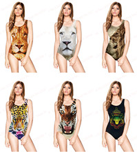 Digital Print Wild Tiger Swimsuit One Piece SEXY Women 3D Animal Leopard Swimwear Lion Bodysuit Bathing Suit Maillot de bain
