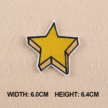 1 PC Patches For Clothing 3D Look Yellow Star Patches For Apparel Bags DIY Accessories