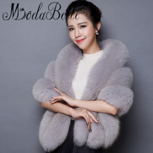 modabelle Bolero Women Faux Fur Black White/Red/Pink/Gray Wedding Winter Coat Coprispalle Sposa Wedding Jacket In Stock 2017