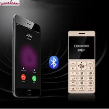 Unlocked Original Mparty Lt1 Ultra-thin Metal Plating Drawing Body Card Mobile Phone Bluetooth Dialer Pocket Business Phone(China)