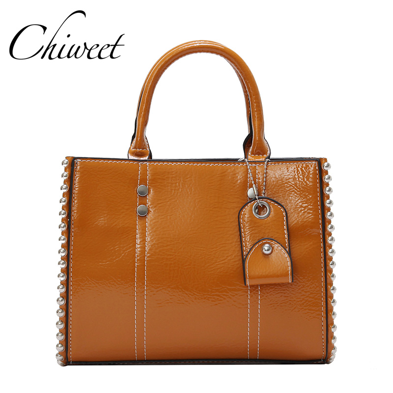 Brand Female Top-Handle Bag Square Pearl Messenger Bags Luxury Handbags Women Bags Designer Oil Wax PU Leather Shoulde Bag Totes<br>