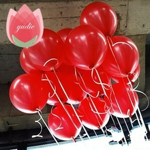 10pcs 10inch Red Latex Balloon Air Balls Inflatable Wedding Party Decoration Birthday Gift Kid Party Float Balloons