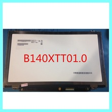 "14.0"" Slim LED LCD with Touch Screen B140XTT01.0 for lenovo S410p S400 S415 notebook matrix display"