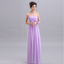 2017 cheap chiffon long bridesmaid dresses bridesmaide party bridal lace up back bridemaid dress under 50 woman summer H2486