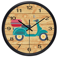 Retro Electric Car Girl Room Wall Clock Silent Decorative Vintage Watch