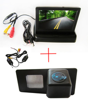Wireless Color CCD Chip Car Rear View Camera for Ssangyong Rexton Ssang yong Kyron + 4.3 Inch foldable LCD TFT Monitor