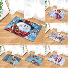 Homing Cute Cartoon Snowman Merry Christmas Gift Pattern Durable Door Mats Rugs Waterproof Living Room Carpet Home Decor(China)