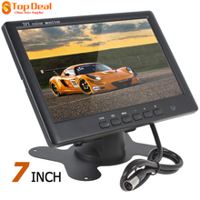 Hot Sale! 800*480 7 Inch HD Color TFT LCD Screen Rear View Camera Monitor 2 AV Video Input Car Reverse DVD VCD Player Monitor(China)