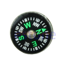 Mini Pocket Button Survival Small Compasses For Hiking Camping Outdoor 5 Pc #H030#(China)