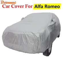 Buildreamen2 Full Car Cover Anti-UV Sun Shield Snow Rain Scratch Resistant Cover Dust Proof For Alfa Romeo 147 156 Brera MiTo(China)