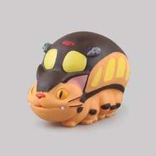 Japanese Animation Tonari no Totoro Toys Cat PVC Car Bus Piggy Bank My Neighbor Totoro Bus Boxed Action & Toy Figures. GH078(China)