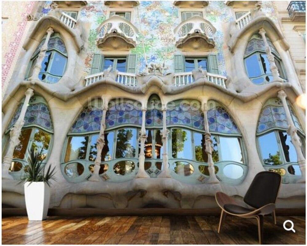 Custom photo wallpaper,Gaudis Casa Batllo, Barcelona for living room sofa corridor backdrop decorative papel de parede<br>
