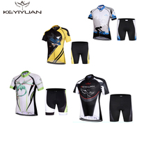 KEYIYUAN Summer Children Cycling Clothing set Boys Girls Bike Jersey Shorts Sets Team Bicycle ciclismo Kids mtb Shirts Suits