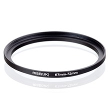 original RISE(UK) 67mm-72mm 67-72mm 67 to 72 Step Up Ring Filter Adapter black free shipping(China)