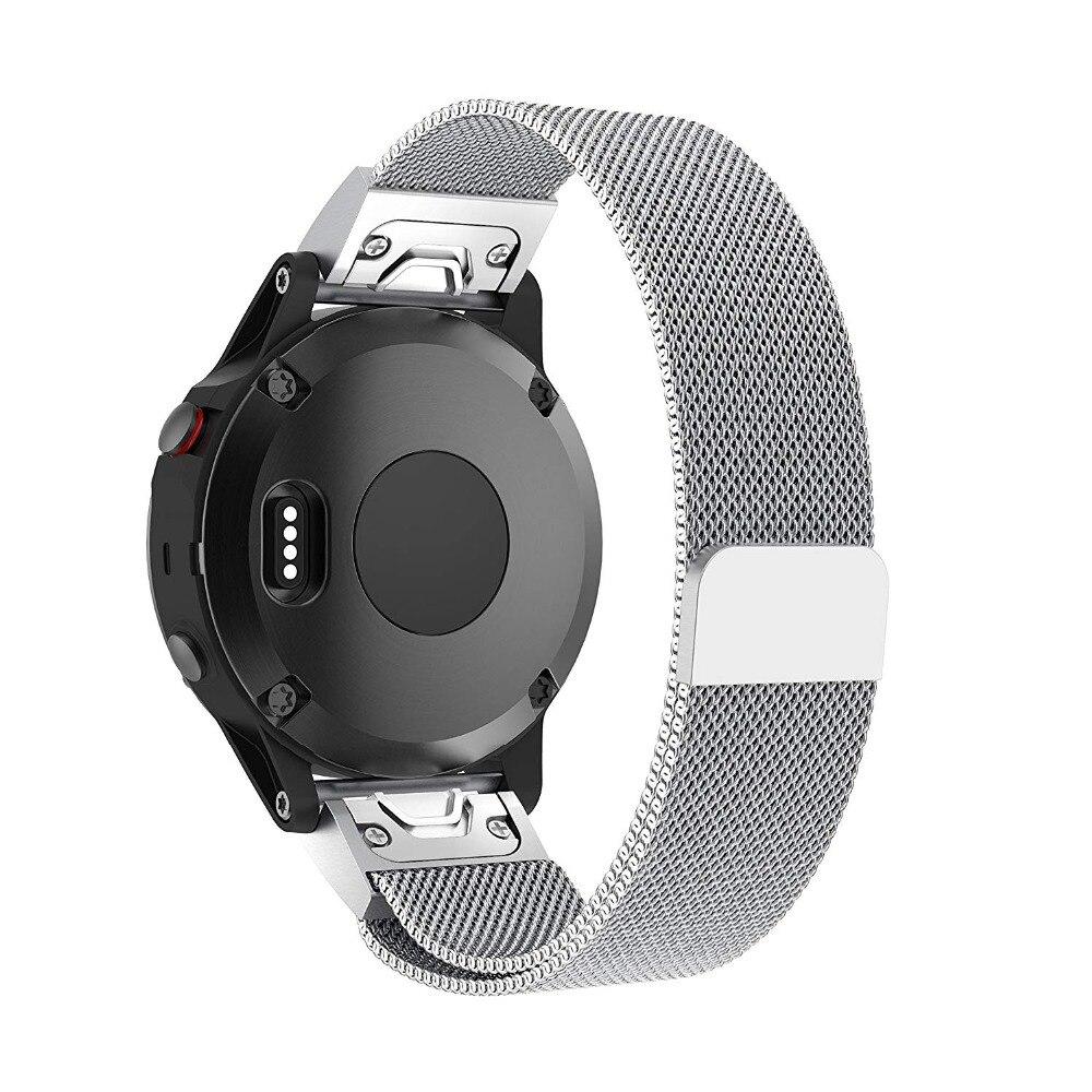 Milanese Loop Stainless Steel Mesh Replacement Bracelet Strap for Garmin Fenix 5x Fenix 3 Smart Watch Small Large 9.26 (2)