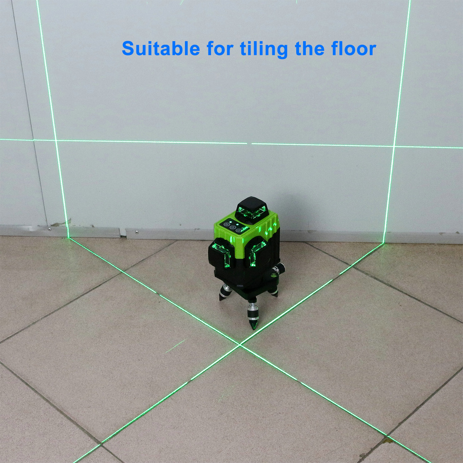 KaiTian 12Lines 3D Laser Levels Self-Leveling Cross Horizontal 360 Vertical Green Laser x Beam 532nm Line Lazer Nivel Level Tool floor