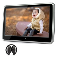Pumpkin 10.1 Inch HD Digital Touch Screen Car Headrest DVD Player Car Radio Ultra-thin Detachable One IR Headphone(China)
