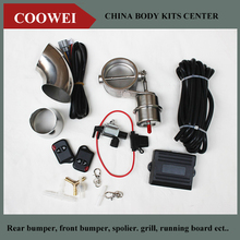 "Exhaust Control Valve Set With Vacuum Actuator CUTOUT 3"" 76mm Pipe CLOSE STYLE with Wireless Remote Controller"