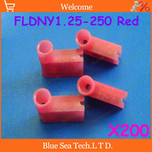 Free Shipping 200pcs/lot FLDNY1.25-250 Red Flag cold-pressed terminal Insulated Terminal For 0.5-1.5mm2 , 22-18 AWG Wire 10A(China)