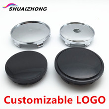 4pc/lot shuaizhong 56mm 60mm 65mm 68mm blank Dust-proof covers 3D Sticker car Wheel Center Hub Cap Customizable LOGO Badge Decal(China)