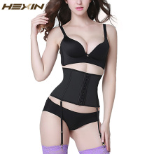 HEXIN Latex Waist Trainer with Garter Belt Steel Boned Body Shaper Slimming Underwear Belt Waist Shaper Corset Underbust 6XL(China)