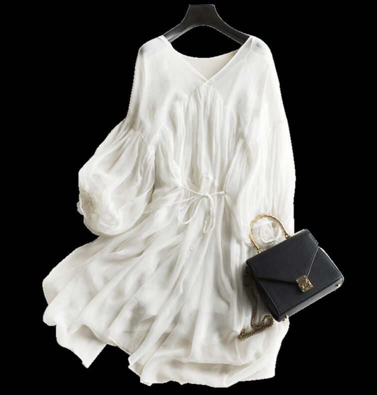 white silk dress beach 1