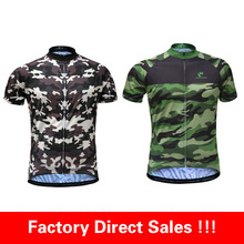 Factory Direct Sales !JESOCYCLING Men's Camouflage Cycling Jersey Breathable Cycling Wear in two Colors and 6 Size