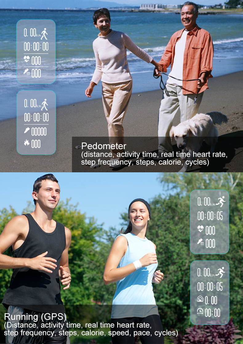 P5 GPS Fitness Bracelet Heart Rate Monitor Smart Band Smart Wristband Watch Phone Activity Tracker PK Xiaomi Band 2