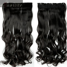 "18-28"" 45-70CM 100% Real Natural Hair Extention 3/4 Full Head Clip in on Hair Extensions Curly Wavy 5 Clips ins Hairpiece"