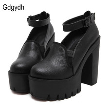 Gdgydh Fashion High Heels Pumps Women Ankle Strap 2018 New Spring Thick High Heeled Shoes Casual Stella Platform Shoes Woman(China)