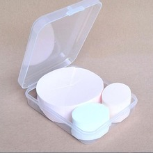 1Pc Makeup Foundation Silicone Blender Blending Prowder Puff Case Powder Beauty Sponge Make Up Puff Box/case()