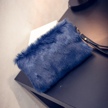 Luxury Women Handbag Faux Rabbit Fur Designer Female Small Messenger Bag for Women Feather Bags Crossbody Shoulder Bags Bolsa