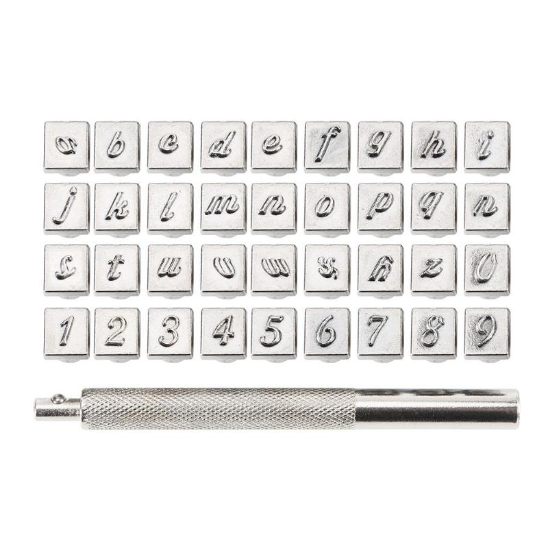 Alphabet or Numbers Stamps Craft Set Letters Punch Steel Metal Leather Tool Kit