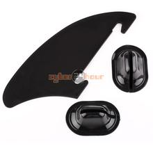 NEW 260x110mm Kayak Skeg Tracking Fin Integral Fin Watershed Board Canoe Boat Black Free Shipping!(China)