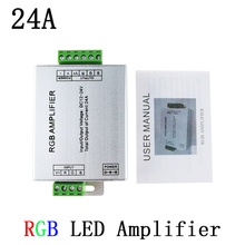 LED RGB Amplifier DC12-24V 24A RGB Amplifier for RGB LED Strip Power Repeater Console Controller for SMD 3528 5050 LED Strip 1pc