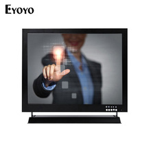 "Eyoyo 15 inch HD Resistive Touch Screen Industrial Monitor 1024*768 15"" TFT LCD CCTV Monitor with HDMI VGA BNC Interface"
